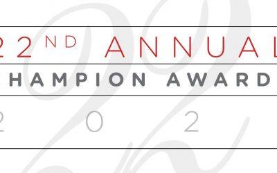 Congratulations to the 2021 Champion Award Winners!